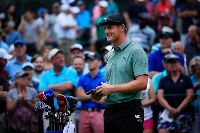 "<a class=""link rapid-noclick-resp"" href=""/pga/players/19918/"" data-ylk=""slk:Bryson DeChambeau"">Bryson DeChambeau</a> is rolling into the Tour Championship. (Getty)"