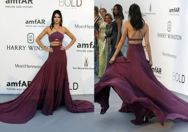 Kendall Jenner purple gown