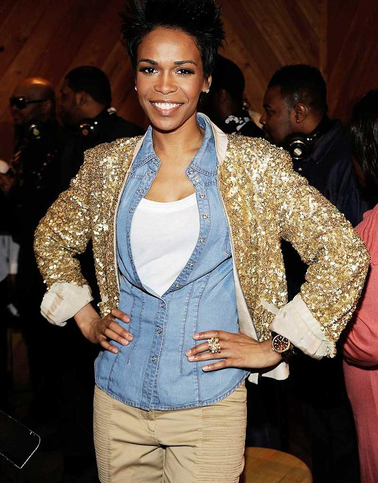 "Michelle Williams, you stole that ghastly gold sequined jacket from Beyonce's mom, didn't you? Larry Busacca/<a href=""http://www.gettyimages.com/"" target=""new"">GettyImages.com</a> - March 2, 2010"