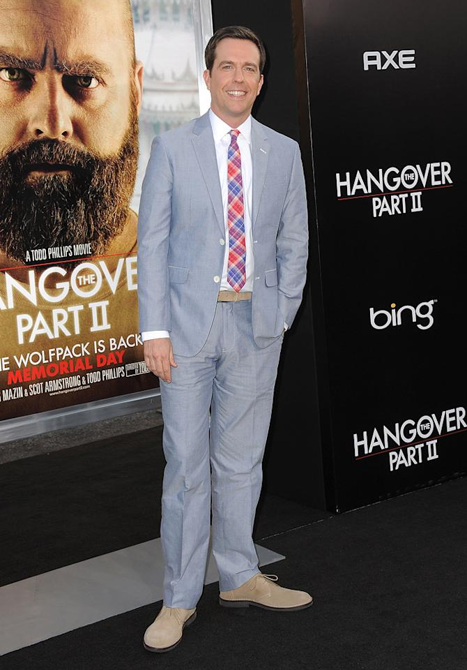 """<a href=""""http://movies.yahoo.com/movie/contributor/1809704692"""">Ed Helms</a> attends the Los Angeles premiere of <a href=""""http://movies.yahoo.com/movie/1810187722/info"""">The Hangover Part II</a> on May 19, 2011."""