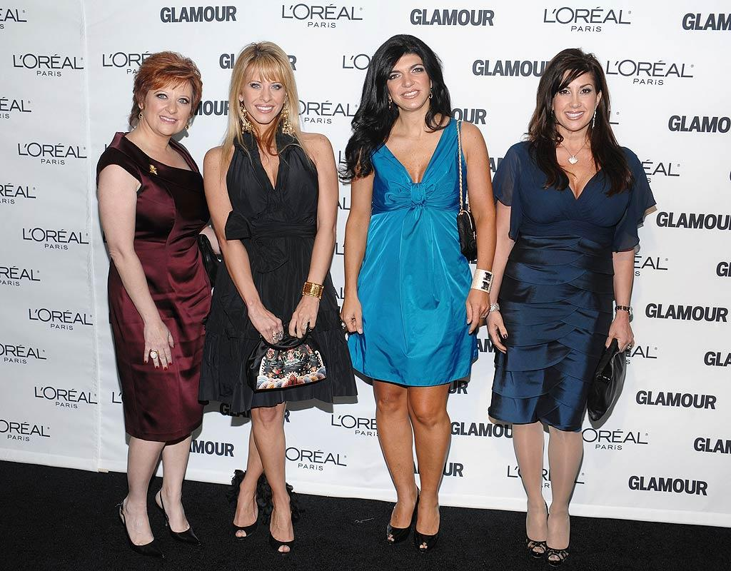 "Somehow the ""Real Housewives of New Jersey"" -- Caroline Manzo, Dina Manzo, Teresa Giudice, and Jacqueline Laurita -- found their way onto the red carpet, even though they are far from inspirational! Dimitrious Kambouris/<a href=""http://www.wireimage.com"" target=""new"">WireImage.com</a> - November 9, 2009"
