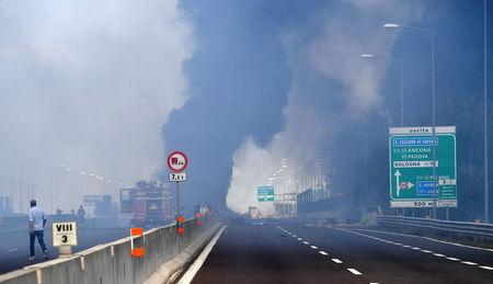Italy Explosion: Truck Crash Sparks Huge Fireball On Motorway Near Bologna