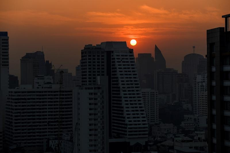 Bangkok has been shrouded in murky haze for weeks, sparking social media criticism of the uneven response by the government (AFP Photo/Jewel SAMAD)