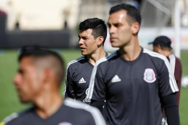 Football Soccer - Mexico's national soccer team training - World Cup 2018 - Mexico City, Mexico - May 17, 2018 - Mexico's player Hirving Lozano attends a training session. REUTERS/Edgard Garrido