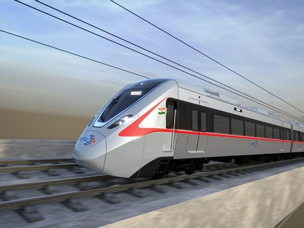 An image of the high-speed, energy-efficient train for Delhi-Ghaziabad-Meerut corridor.