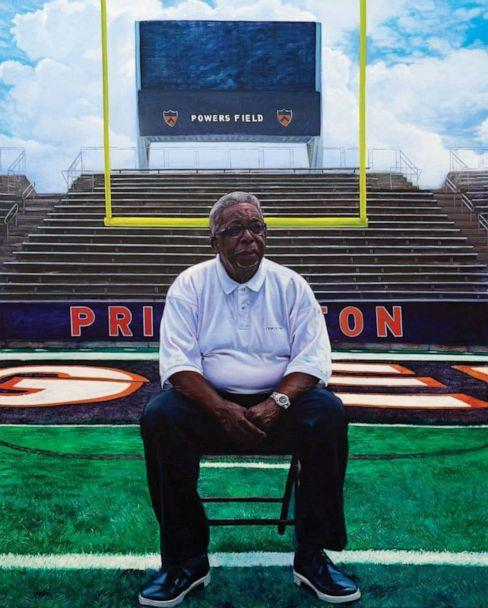 PHOTO: Mario Moore's portrait of Hank Towns, a retired athletic department equipment manager who worked at Princeton University for over 30 years. (Courtesy Mario Moore)