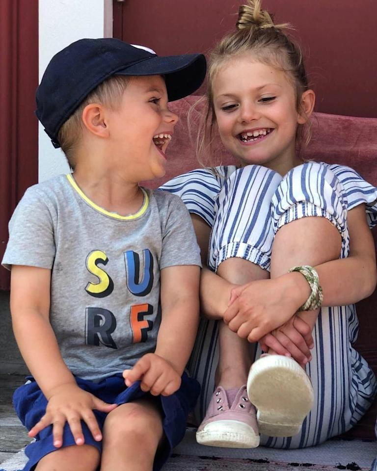 Staycation mode for the Swedish royals! Crown Princess Victoria of Sweden and Prince Daniel took their children Princess Estelle, 7, and Prince Oscar, 3, on a low-key to the country's island of Blå Jungfrun in July.