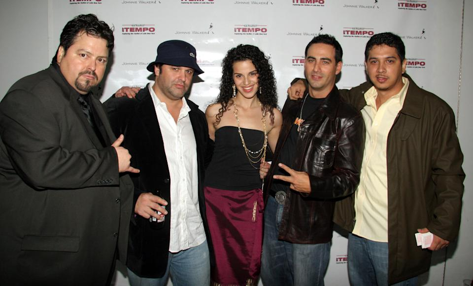 Cast of Latinologues with Daniel Hastings during Tempo Magazine 2nd Anniversary Party at 450 Studio in New York, New York, United States. (Photo by Johnny Nunez/WireImage)
