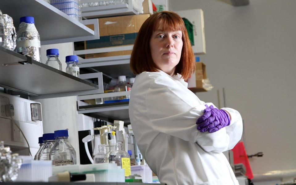 Dr Sarah Gilbert, in the labs at the Old Road Campus Research Building in Oxford - John Lawrence
