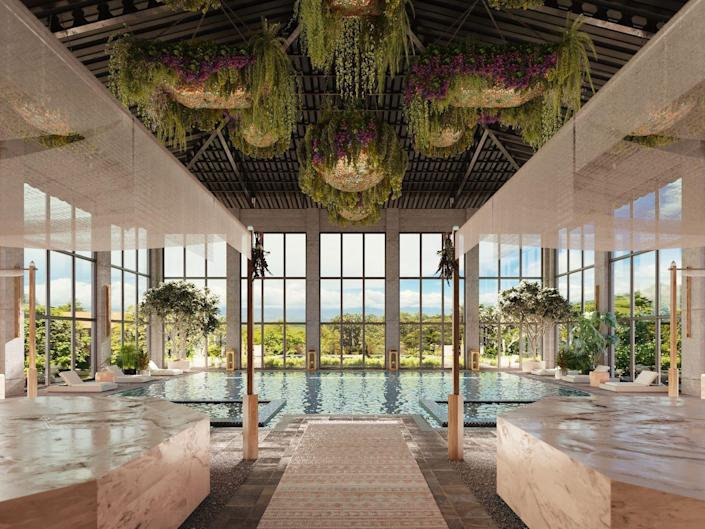 """<p>Wellness enthusiasts, eat your heart out. Auberge Resorts Collection's latest international opening is set to become one of the world's preeminent wellness destinations. Nestled in the foothills of the Talmanca Mountains, <a href=""""https://aubergeresorts.com/altagracia/"""" rel=""""nofollow noopener"""" target=""""_blank"""" data-ylk=""""slk:Hacienda AltaGracia, Auberge Resorts Collction"""" class=""""link rapid-noclick-resp"""">Hacienda AltaGracia, Auberge Resorts Collction</a> will offer a luxurious destination to rejuvenate, find thrilling adventures inspired by native culture and the lush landscape, and savor impeccable cuisine inspired by Nicoya, the adjacent """"Blue Zone"""" to the sprawling, 180-acre property. </p><p><em>Hacienda AltaGracia, Auberge Resorts Collection is set to open in November 2021. Nightly rates will start at $1,050 and are inclusive of meals, non-alcoholic beverages, weekly adventure and wellness programming and transfers between Pérez Zeledón airport and the property.</em></p>"""