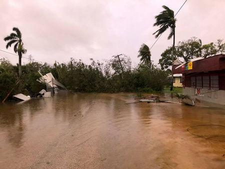The aftermath of cyclone Gita is seen in Nuku'alofa, Tonga, February 13, 2018 in this picture obtained from social media. Facebook Noazky Langi/via REUTERS THIS IMAGE HAS BEEN SUPPLIED BY A THIRD PARTY. MANDATORY CREDIT. NO RESALES. NO ARCHIVES