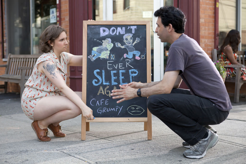 "Lena Dunham and Alex Karpovsky in the ""Girls"" Season 2 episode, ""One Man's Trash."""