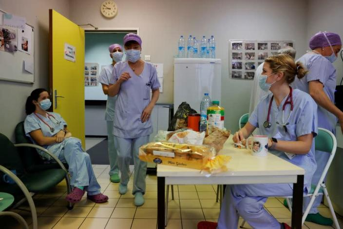 French young doctor on shift in the heavily Covid-19 affected northern region of Hauts-de-France