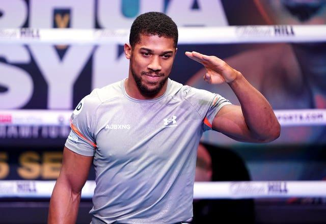 Anthony Joshua is set to fight in front of more than 60,000 fans this weekend (Zac Goodwin/PA)