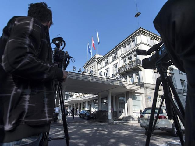 A view of the Baur au Lac where Fifa arrests stunned the world in 2015 ()
