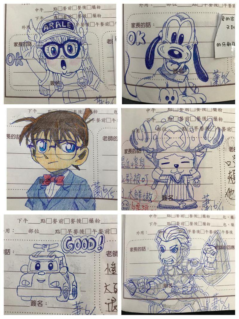 <p>The doodles include characters from TV shows and movies. (Photo courtesy of 爆廢公社/Facebook)</p>