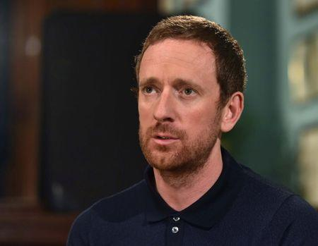 FILE PHOTO: Cyclist Bradley Wiggins speaks on the BBC's Andrew Marr Show in this undated photograph received via the BBC in London, Britain September 24, 2016. Jeff Overs/BBC/Handout via REUTERS