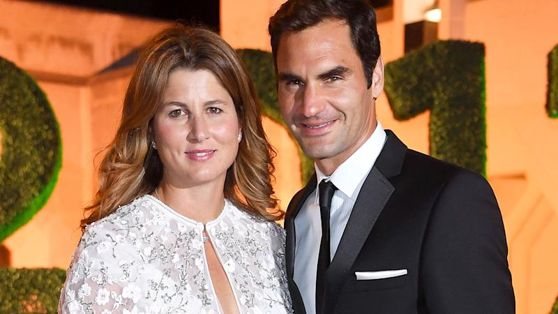 Mirka and Roger Federer at the Wimbledon Winners Dinner in 2017. (Photo by Karwai Tang/WireImage)
