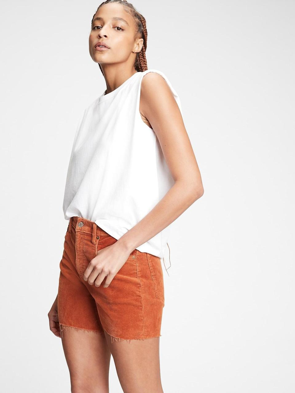 <p>You'll love the supportive fit of these <span>Gap Vintage Corduroy Shorts</span> ($28, originally $50).</p>