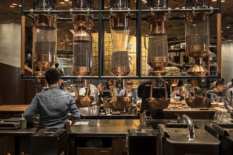 A Starbucks Reserve Roastery store in Shanghai, China. Starbucks wants to develop more digital payments options for its customers.