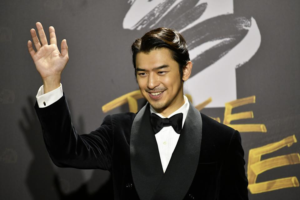 Taiwanese actor Chen Bolin arrives on the red carpet at the 57th Golden Horse film awards, dubbed the Chinese 'Oscars', in Taipei on November 21, 2020. (Photo by SAM YEH / AFP) (Photo by SAM YEH/AFP via Getty Images)