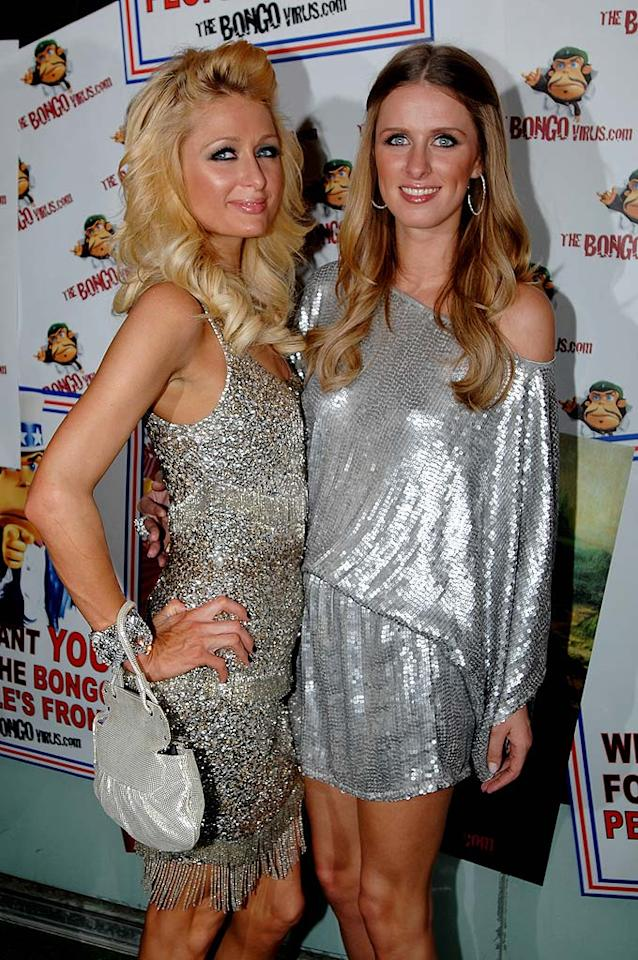 """Paris and Nicky Hilton were among the first to ring in 2009. The sisters attended The Bongo Virus New Year's Eve Party in Sydney, Australia. Wendell Teodoro/<a href=""""http://www.wireimage.com"""" target=""""new"""">WireImage.com</a> - December 31, 2008"""