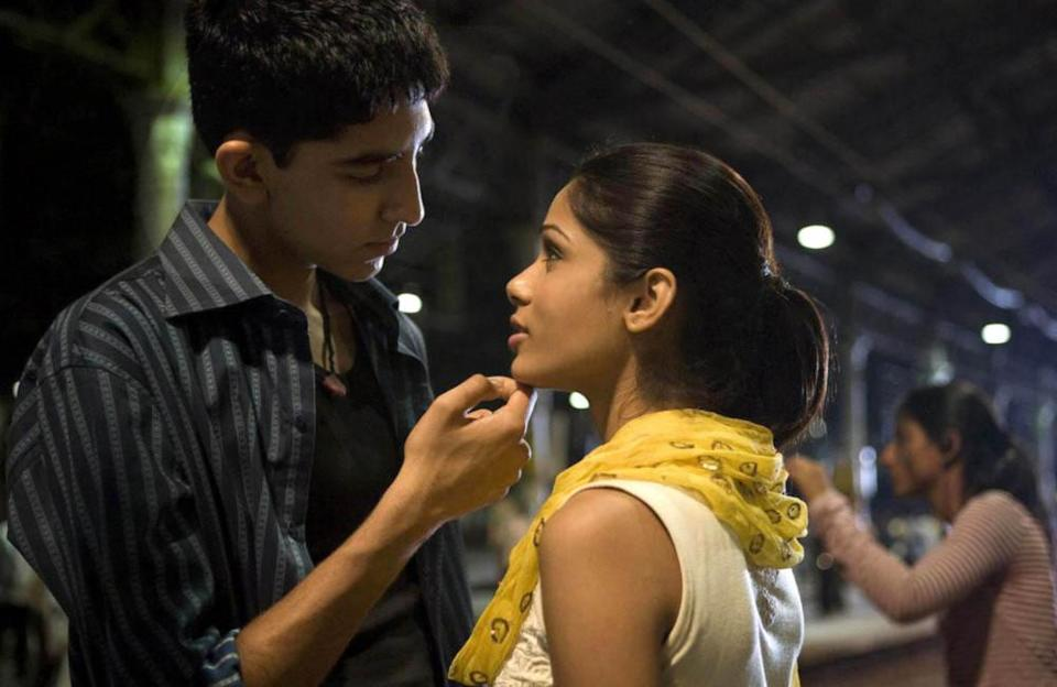 Slumdog Millionaire follows the story of 18-year-old Jamal Malik, from the slums of Mumbai. He becomes a contestant on the Indian version of 'Who Wants to Be a Millionaire?' We see the development of the relationship between Malik (played by Dev Patel) and his childhood friend Latika (Freida Pinto) .They finally kiss on a train platform in Mumbai, a moment the audience had been waiting for!