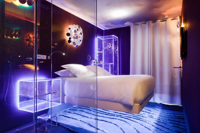 Hotel Seven, Paris - Ever dreamt of floating in space? Hotel Seven Paris, 20, rue Berthollet, 75005 Paris (+33 014 331 4752; www.sevenhotelparis.com)