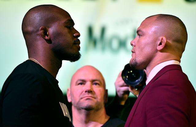 Anthony  Smith (R) sees a lot of himself in Jon Jones. (Getty Images)