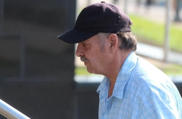 Randy Van Horlick, pictured in 2019, wasn't in court and and did not have anyonethereto represent him on Monday, when a date was set to hear a civil suit filed against him by a Moncton nurse. (Shane Magee/CBC - image credit)
