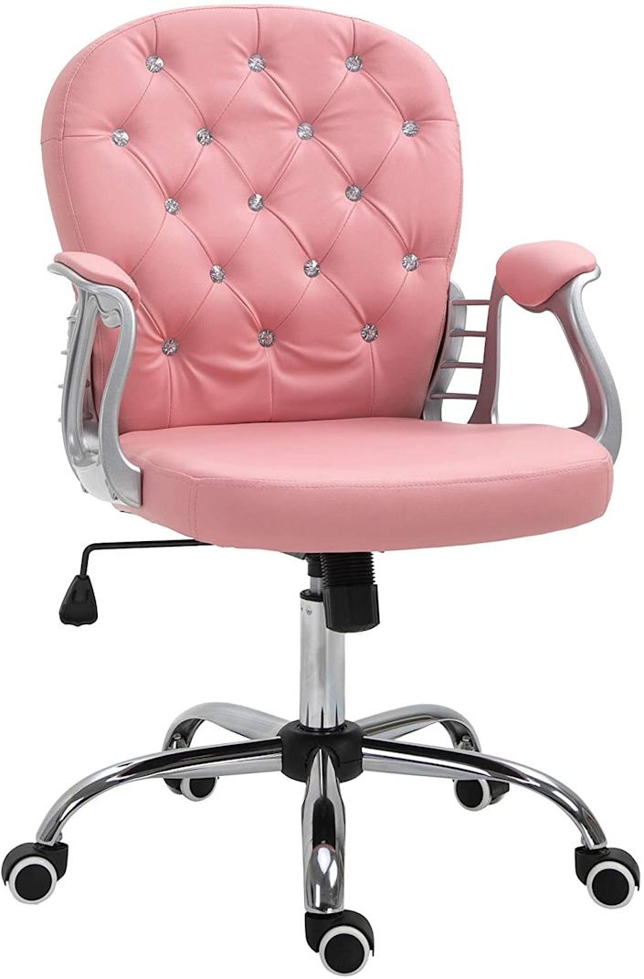 Vinsetto Vanity Middle Back Office Chair (Photo via Amazon)