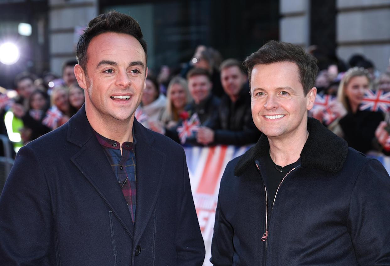 Ant McPartlin and Declan Donnelly arriving at the Britain's Got Talent photocall, London Palladium. Photo credit should read: Doug Peters/EMPICS
