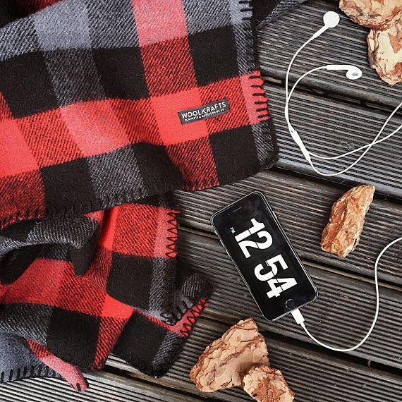 """The essential accessory for a perfect night in by the fire.<a href=""""https://www.etsy.com/listing/484477164/fire-buffalo-wool-blanket"""" target=""""_blank"""">Shop it here</a>."""