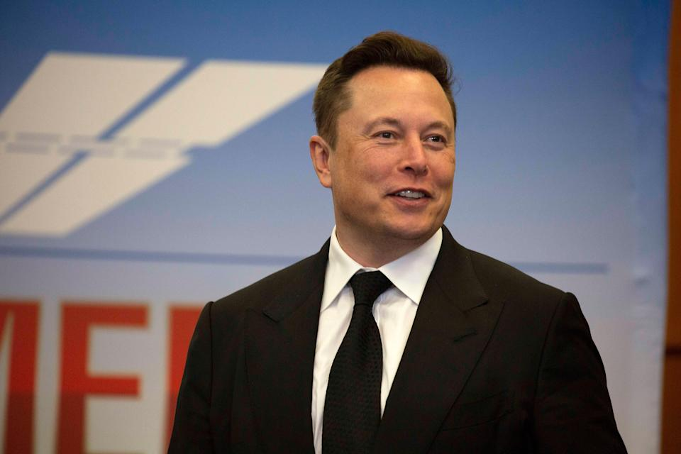 Elon Musk, founder and CEO of SpaceX, participates in a press conference at the Kennedy Space Center (Getty Images)