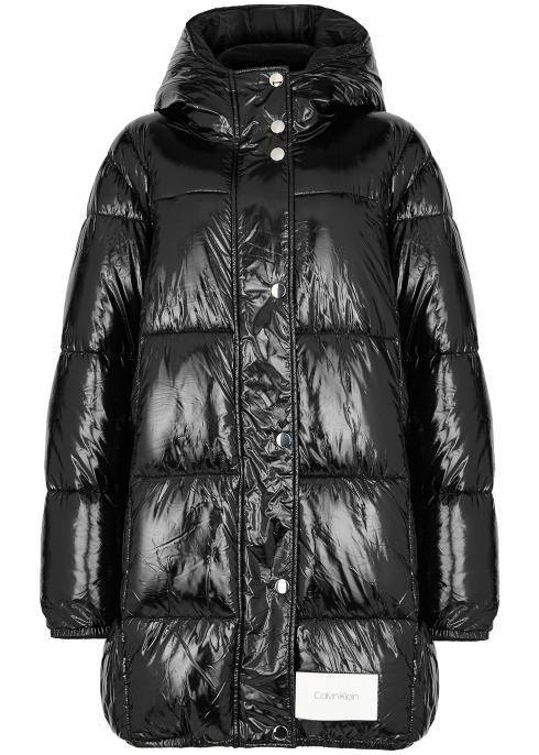 """<br><br><strong>Calvin Klein</strong> Black Quilted Patent Shell Coat, $, available at <a href=""""https://www.harveynichols.com/brand/calvin-klein/303254-black-quilted-patent-shell-coat/p3413522/"""" rel=""""nofollow noopener"""" target=""""_blank"""" data-ylk=""""slk:Harvey Nichols"""" class=""""link rapid-noclick-resp"""">Harvey Nichols</a>"""