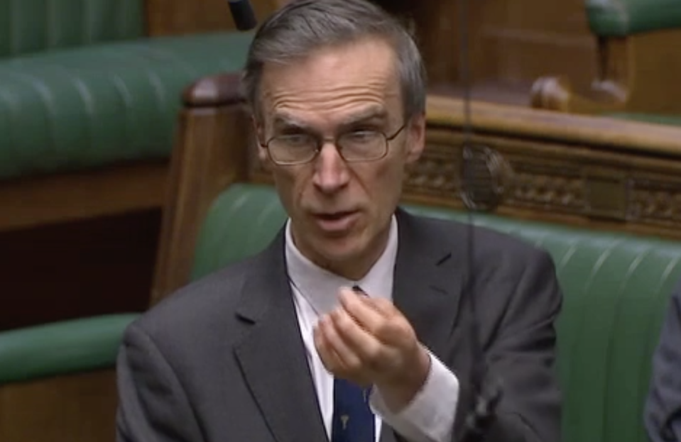 Dr Andrew Murrison said a delivery of personal protective equipment has been delayed until 9 April (Parliamentlive.tv)
