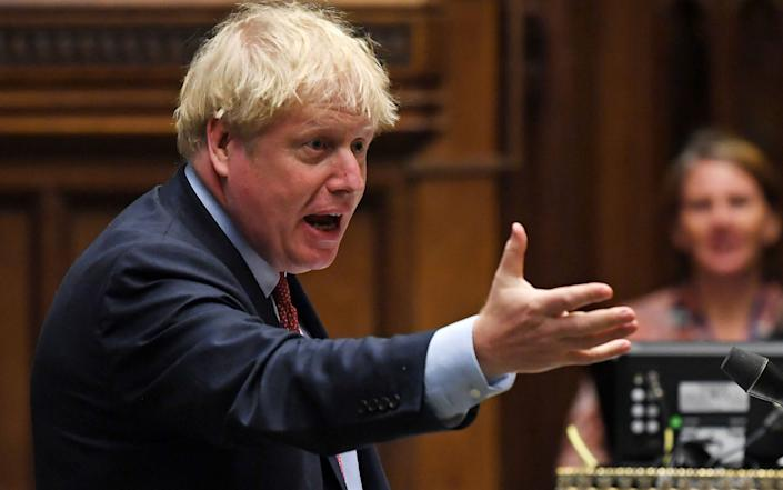 Boris Johnson returns for his first PMQs since July at midday today - JESSICA TAYLOR/AFP