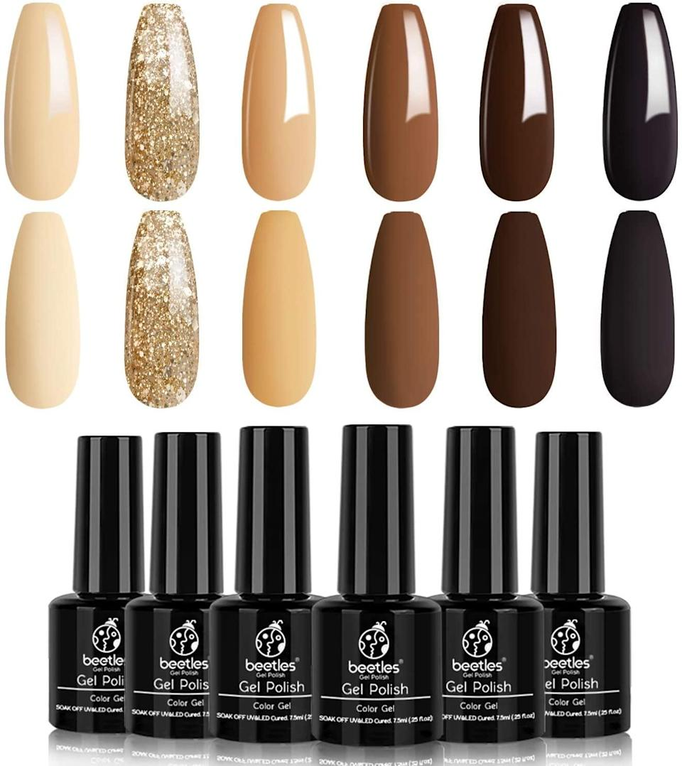 <p><span>Beetles Gel Nail Polish Set - Roasted Chestnuts Collection</span> ($12, originally $25)</p>