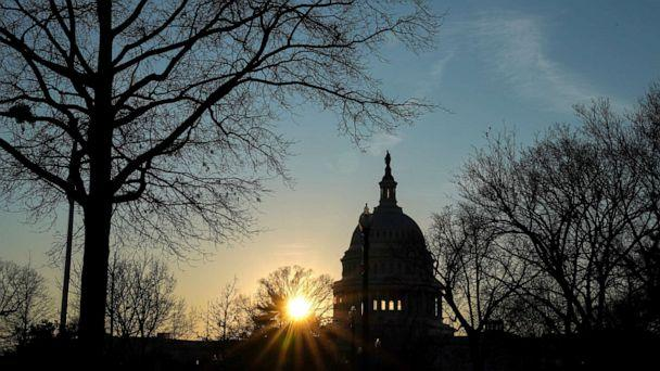PHOTO: The U.S. Capitol building exterior is seen at sunset, Jan. 21, 2020, in Washington, DC. (Sarah Silbiger/Reuters)