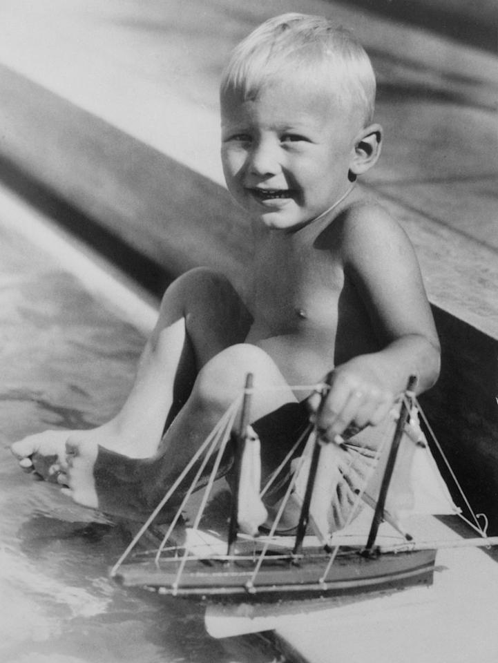 <p>Aldrin at three years old escaping the winter with family in Miami Beach, FL</p>