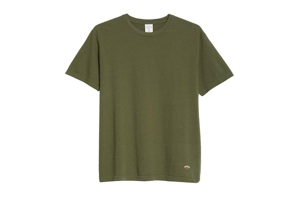 "$52, Nordstrom. <a href=""https://www.nordstrom.com/s/noah-recycled-cotton-t-shirt/5593435?origin=keywordsearch-personalizedsort&breadcrumb=Home&color=none"" rel=""nofollow noopener"" target=""_blank"" data-ylk=""slk:Get it now!"" class=""link rapid-noclick-resp"">Get it now!</a>"
