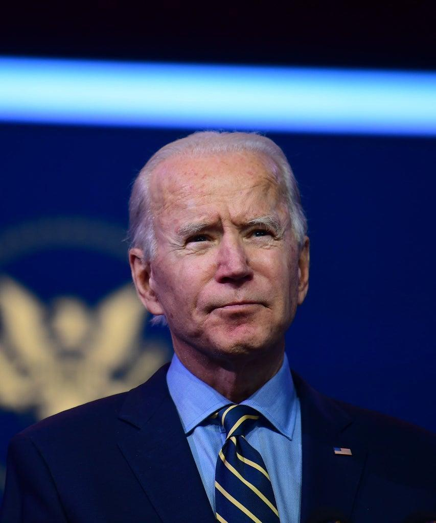 WILMINGTON, DE – DECEMBER 28: President-elect Joe Biden delivers remarks at the Queen Theater on December 28, 2020 in Wilmington, Delaware. Biden will be inaugurated as the 46th president in a scaled-down ceremony in Washington D.C. due to the coronavirus (COVID-19) pandemic on January 20, 2021. (Photo by Mark Makela/Getty Images)