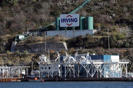 Irving Oil's marine terminal is seen in St John's