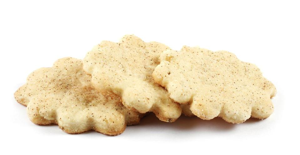 """<p>New Mexico is completely unique when it comes to the state's most iconic cookie. Bizcochito — crispy cookies laced with cinnamon and anise — were created here, and the star- and moon-shaped treats are a mainstay at pretty much any celebration you can think of.</p><p>Get the recipe from <a href=""""http://www.sweetleisure.com/2011/03/bizcochitos/"""" rel=""""nofollow noopener"""" target=""""_blank"""" data-ylk=""""slk:Sweet Leisure"""" class=""""link rapid-noclick-resp"""">Sweet Leisure</a>.</p>"""