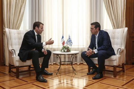 France's Macron Lays Out Plan For Reshaping Europe During Athens Visit