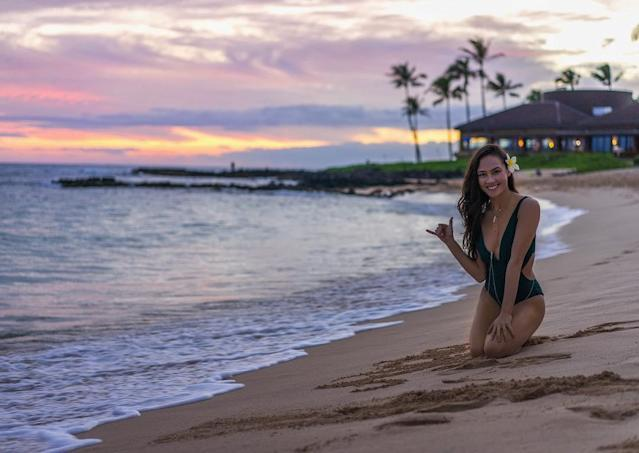 <p>Madison maintains a connection to her Hawaiian heritage, which she gets from her dad. In this photo she's celebration World Oceans Day, and she encouraged others to cut down on waste and educate on how to help save oceanlife. (Instagram/@chockolate02) </p>