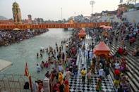 Authorities in Haridwar expect 2.5 million people for the Maha Shivratri festival, one of three auspicious bathing days over the next month as part of a major gathering called the Kumbh Mela