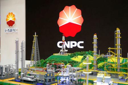 FILE PHOTO: The logo of CNPC (China National Petroleum Corporation) is pictured at the 26th World Gas Conference in Paris