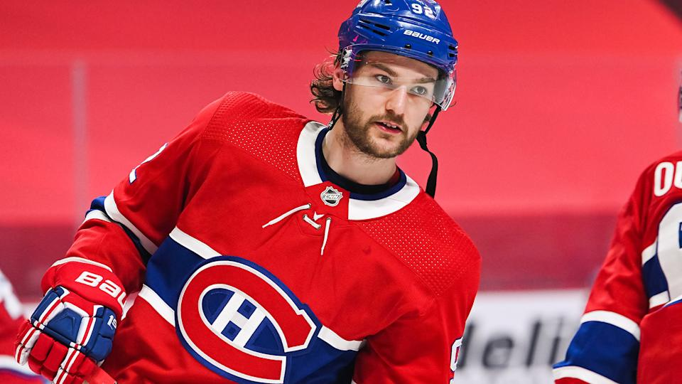 Montreal Canadiens winger Jonathan Drouin is taking an indefinite leave of absence from the team. (Photo by David Kirouac/Icon Sportswire via Getty Images)