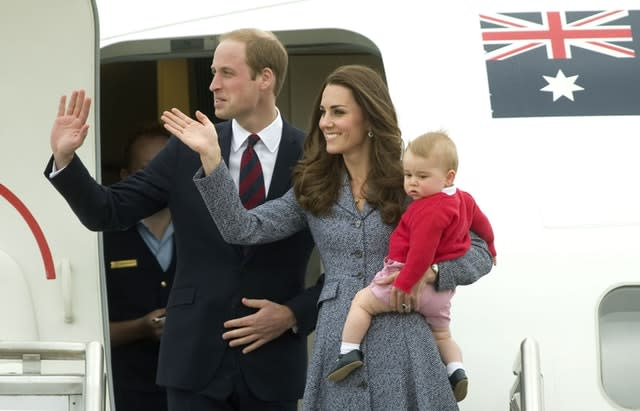 The Duke and Duchess of Cambridge and Prince George previously visited New Zealand (Anthony Delvin/PA)